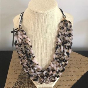 J. Crew Double Strand Link necklace